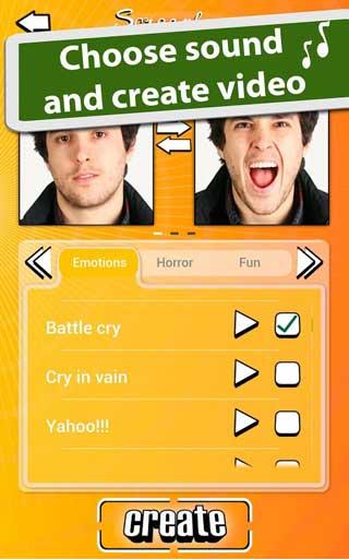 تطبيق Scream face لتصميم فيديو مضحك من صورك للأندرويد