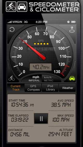 تطبيق Speedometer GPS+ لقياس السرعة والملاحة