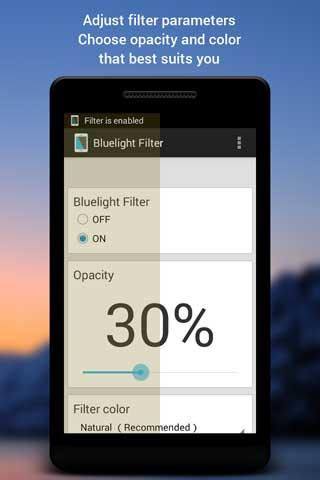 تطبيق Bluelight Filter لضبط الألوان وحماية العينان