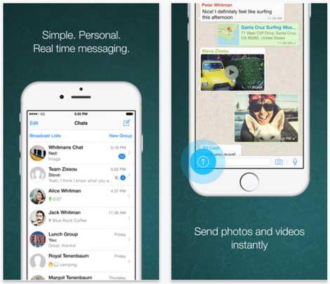 تحديث واتس آب لدعم الأيفون 6 والأيفون 6 بلس