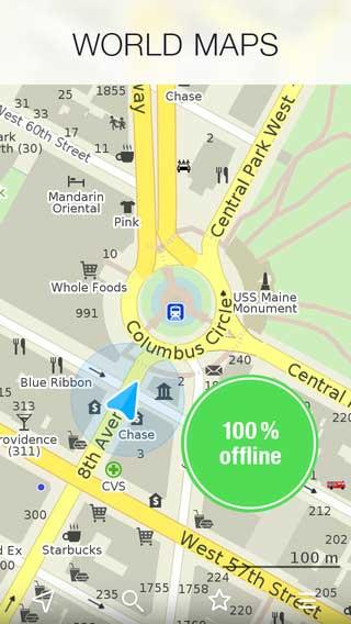 تطبيق MAPS.ME خرائط عالمية بدون انترنت