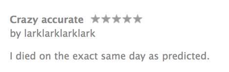 تقييم أحد المستخدمين على التطبيق