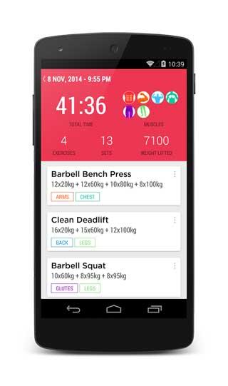 تطبيق Gym Journal دليلك اليومي لبناء الجسم