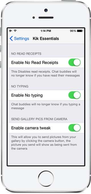 أداة Kik Messenger Essentials للتحكم في خيارات تطبيق كيك