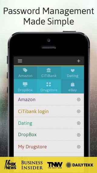 تطبيق Password Manager لحفظ كلمات المرور