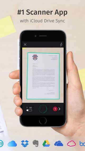 تطبيق Scanbot لتصوير الوثائق مثل الماسح الضوئي