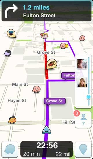 تطبيق Waze Social GPS الملاحة والتجول الاجتماعي
