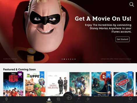 تطبيق Disney Movies Anywhere لمشاهدة أفلام ديزني