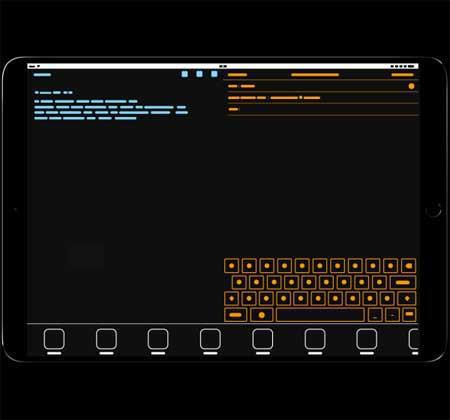 صورة لشاشة الآيباد برو