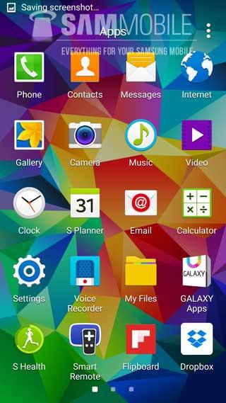 جهاز جالاكسي S5 بالأندرويد 5.0 المصاصة