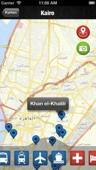 تطبيق Cairo Travel Guide دليلك في القاهرة - للأيفون
