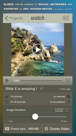تطبيق Slide X Pro لصناعة فيديو من ألبوم الصور