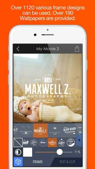 تطبيق Pics2Mov لتجميع الصور في فيديو للايفون