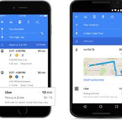 تطبيق خرائط جوجل الأندرويد بتصميم جديد رائع
