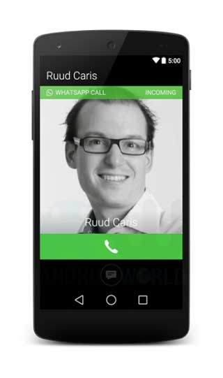 كيف ستكون ميزة الاتصال الصوتي في الواتس آب؟
