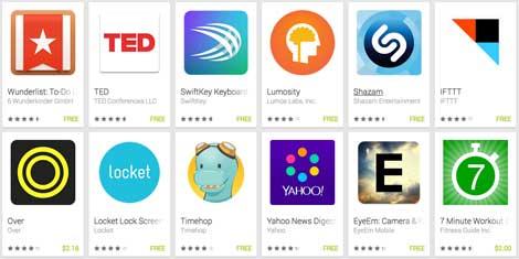 قائمة جوجل لأفضل تطبيقات الأندرويد لعام 2014