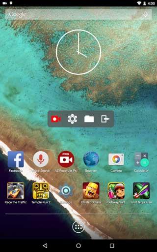 برنامج AZ Screen Recorder لتسجيل فيديو لشاشة الجهاز - بدون روت