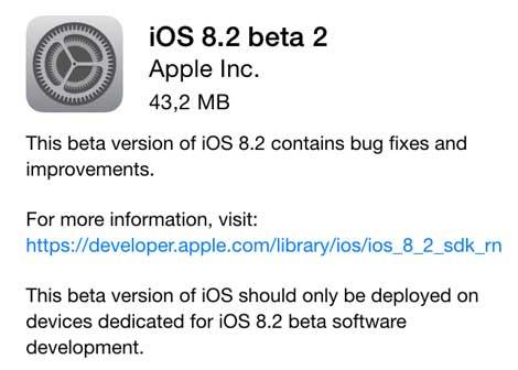 آبل تقوم بإطلاق الإصدار 8.2 beta للمطورين