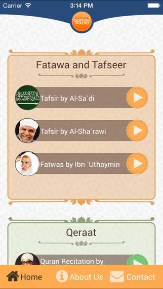تطبيق Qur'an radios - إذاعات القرآن الكريم للأيفون - مجانا