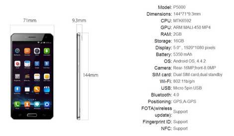 شركة Elephone تعلن عن جهاز P5000 ذو البطارية الضخمة
