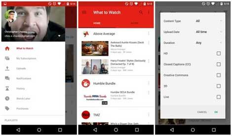 تحديث جديد لتطبيق يوتوب على الأندرويد بتصميم جميل