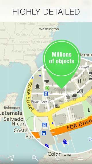 تطبيق MAPS ME للخرائط وتحديد المواقع لجميع الدول بدون اتصال