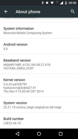 جهاز MOTO X 2014 يحصل على الأندرويد 5.0 في بريطانيا