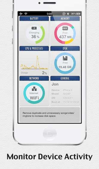 تطبيق SYSTEM UTIL Dashboard لعرض تفاصيل النظام
