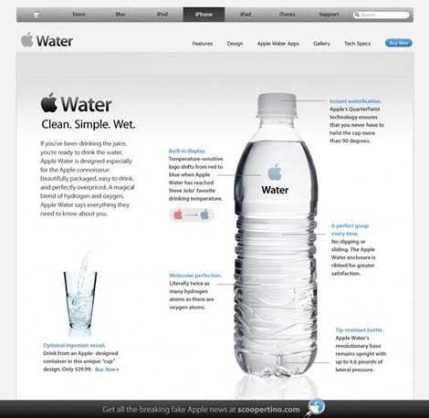قنينة وكوب آبل iWater للماء الصافي - دعابة