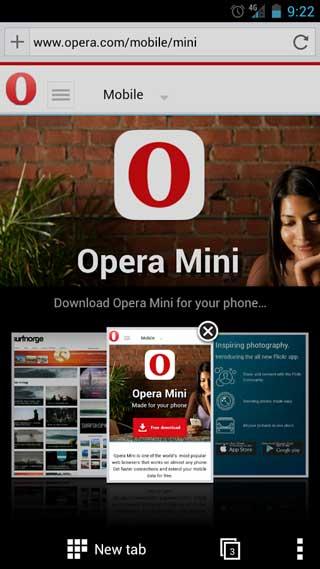 تطبيق Opera Mini beta متصفح ذكي بنسخة جديدة