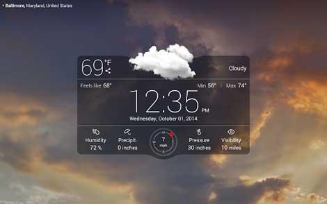 تطبيق الطقس الشهير Weather Live with Widgets