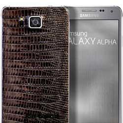 سامسونج تطلق مجموعة من أجهزة Galaxy Alpha بالجلد