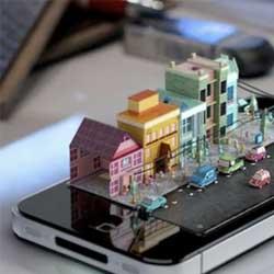 براءة اختراع لآبل: التحكم الثلاثي الأبعاد بشاشة الأيفون