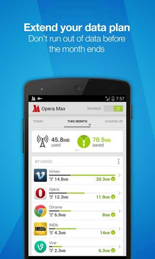 متصفح Opera Max لتوفير كمية البيانات ومزايا رائعة