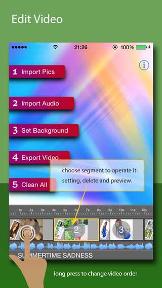 تطبيق PicsToVideo لإنشاء فيديو من البوم صورك
