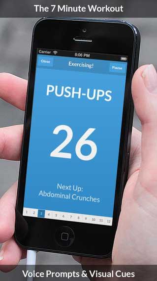 تطبيق 7 Minute Workout مدربك لبناء جسم رشيق