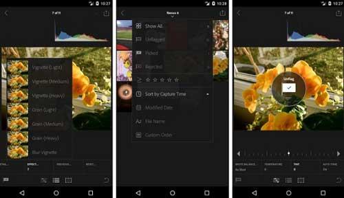 وأخيرا تطبيق Adobe Lightroom لتحرير الصور على الأندرويد