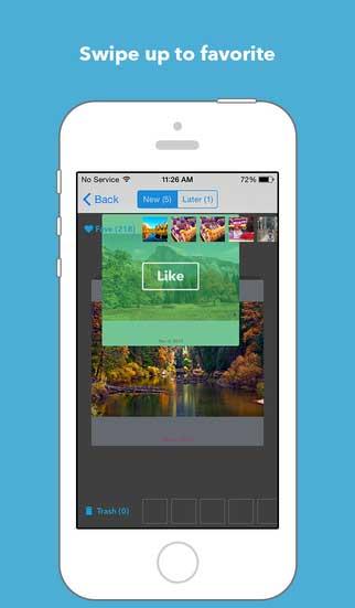 تطبيق Cleen لإدارة ألبوم صورك مع مفضلة