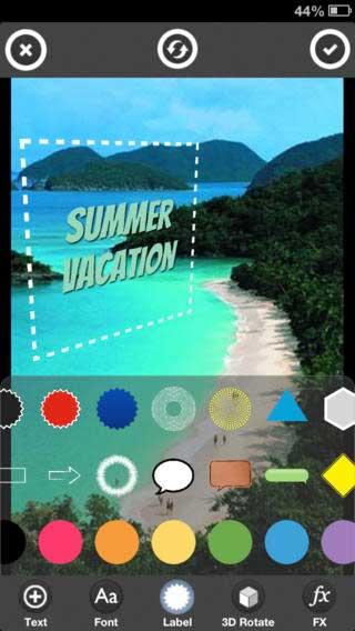 تطبيق TypoPic للكتابة بخطوط 3D على الصور