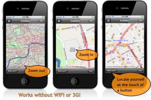 تطبيق لعرض خرائط بدون اتصال انترنت