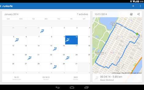 تطبيق Runtastic Running & Fitness إحصائيات رياضة الجري