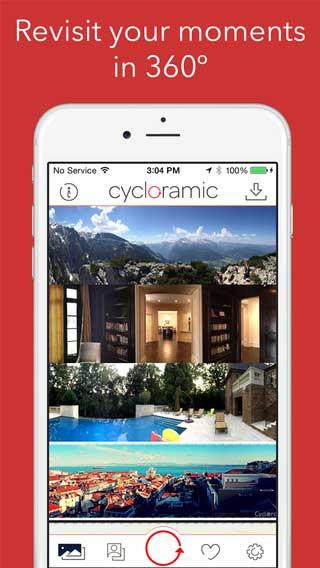 تطبيق Cycloramic for iPhone 6 خيارات ومزايا كثيرة للكاميرا