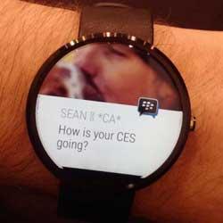 قريبا: تطبيق BBM على ساعات الأندرويد وير