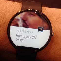 Photo of قريبا: تطبيق BBM على ساعات الأندرويد وير