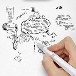 Photo of براءة اختراع: قلم ضوئي يقوم بنقل ما تكتبه على الورق إلى الآيباد
