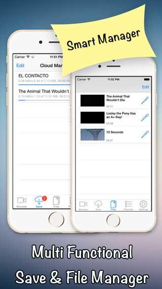 تطبيق iDownloader Pro لتحميل مقاطع الفيديو