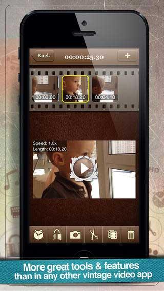 تطبيق Vintagio لتحرير الفيديوهات والتعديل عليها
