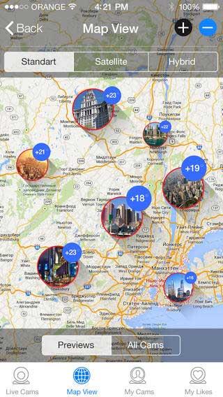 تطبيق Live Cams Pro لعرض كاميرات مباشرة حول العالم