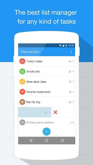 تطبيق Listure لإدارة المهام اليومية للاندرويد