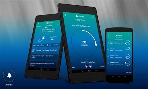 تطبيق Alarmr ساعة منبه وعرض لحالة الطقس في تطبيق واحد